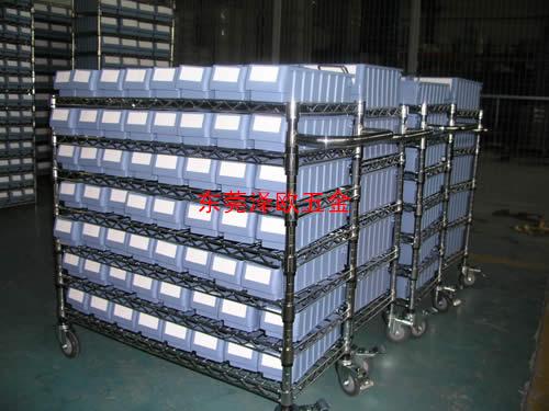 东莞电子厂订做线网零件盒周转车