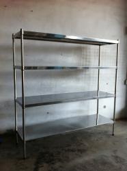 嘉兴市不锈钢平板镀铬置物架 多层组合收纳架金属展示架车间多功能储物