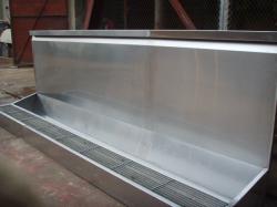 济南不锈钢小便池 学校部队304不锈钢小便槽 不锈钢尿槽尿斗 厂家